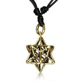 "\\\""Geomatric star\\\"" necklace"