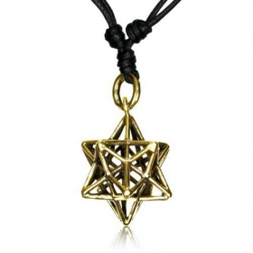 "\""Geomatric star\\\"" necklace"