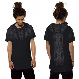 """Geomeister\"" hooded t-shirt, Black"