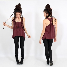 """Geometric Dragonfly\"" knotted tank top"