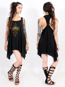 ""\\""""Geometric Dragonfly\"""" knotted tunic, Black and gold""280|280|?|en|2|325096b53920c1555bcf7f58376dcd30|False|UNLIKELY|0.3256177306175232