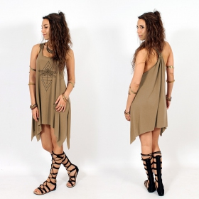 """Geometric Dragonfly\"" knotted tunic"