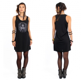 "\""Geometric Scarab\\\"" dress, Black and silver"
