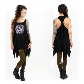 ""\\""""Geometric Scarab\"""" knotted tunic, Black and silver""280|280|?|en|2|6612459e0067a2045bb9b52bfd53e109|False|UNLIKELY|0.28362715244293213