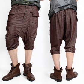 """Ghural\""  Bermuda harem pants, Brown"