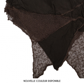 "\""Gitane patch\"" skirt, Brown"