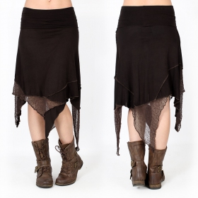 """Gitane patch\"" skirt, Brown"