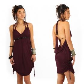 "\""Greek\"" dress, Plum"