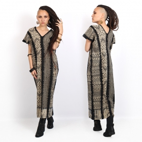 """Gypsy Mexico\"" long dress, Black"