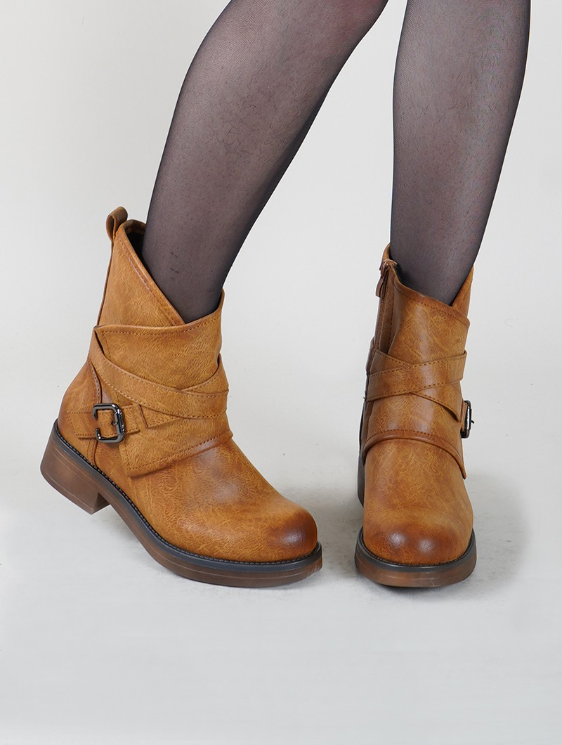 """Hafsana\"" ankle boots, Camel brown"