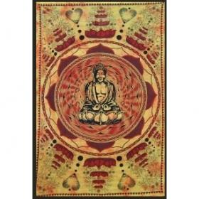 """Hanging \\\""""bouddha lotus\\\"""" 1,40 x 2,20 m  orange"""