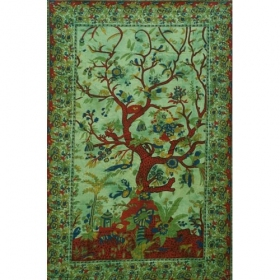 "Hanging \\\""Tree of Life\\\"", Green 1,40m x 2,20m"