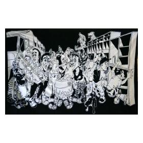 Hanging panoramiks black and white 1.40m x 2.20m