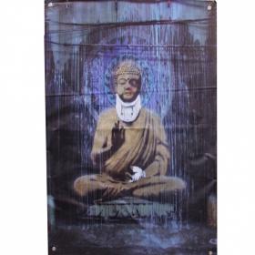 """Hanging/tarpaulin \\\""""injured buddha\\\"""" by banksy"""