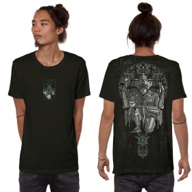 """Hanuman\"" t-shirt, Dark khaki green"