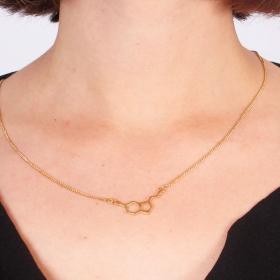 "\""Happiness\"" small pendant necklace, Serotonin molecule"