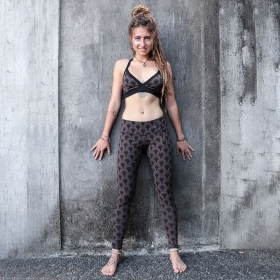 """Hatha Drop\"" leggings, Brown"