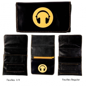 Headphone smiley tobacco pouch