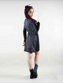 "\""Heliopolis\"" long sleeve dress, Black"