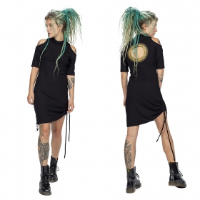 """Helios\"" dress, Black and gold"