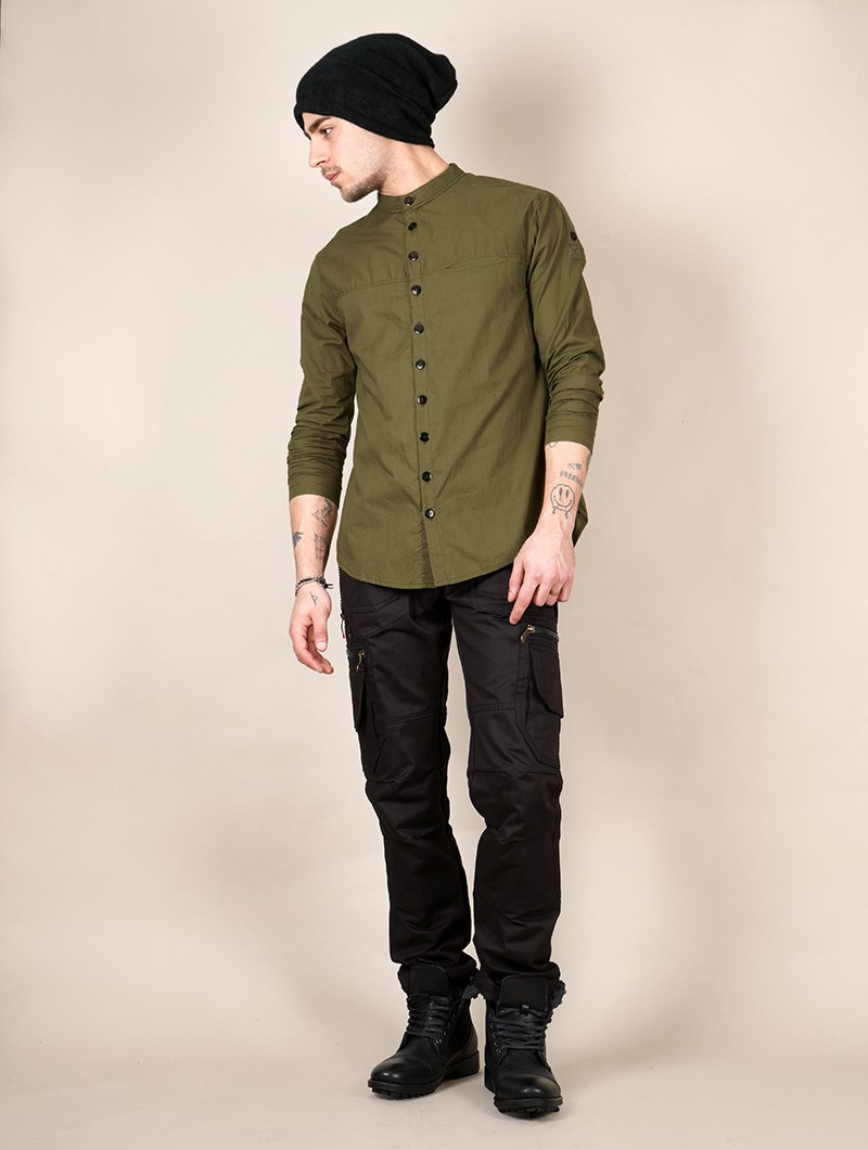 """Herendil\"" long sleeve shirt, Khaki green"