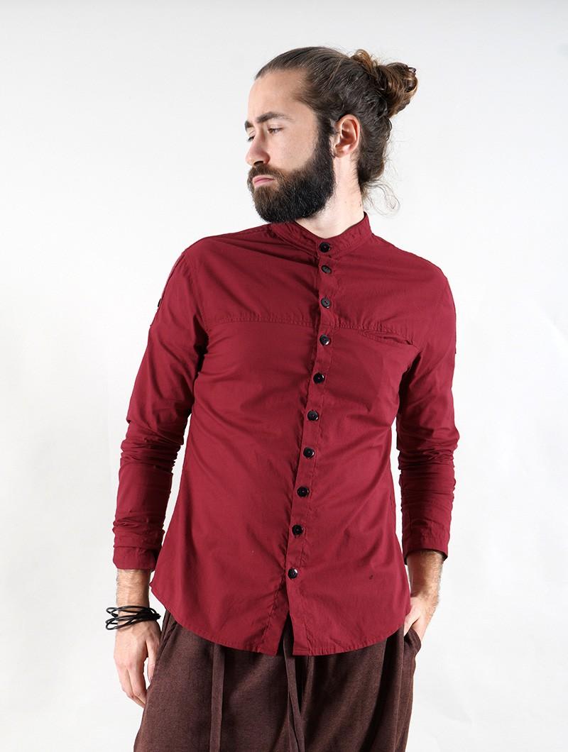 "\""Herendil\"" long sleeve shirt, Wine"