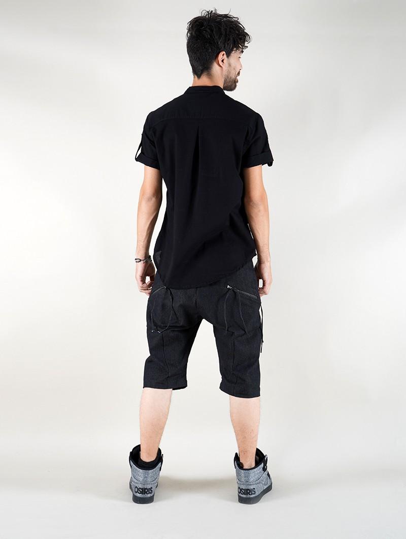 "\""Herendil\"" short sleeves shirt, Black"