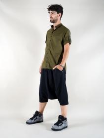 "\""Herendil\"" short sleeves shirt, Khaki green"