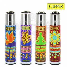 Hippie power Clipper lighter