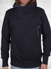 "Hoodie \""connect\\\"", darkgrey-blue"