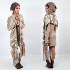Hoodie scarf, Beige