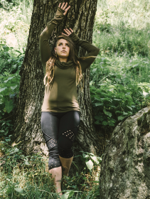 "Hoodie Witch \""Najiya\"", Vert kaki"