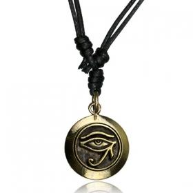 "\\\""Horus\\\"" brass necklace"