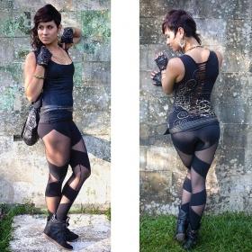 "\""Hot Pant\"" legging, Black"