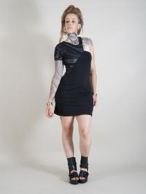 "\""Hypnotic\"" short sleeved dress, Black"