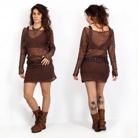 "\""Hyppolita\"" large belt, Brown leather"