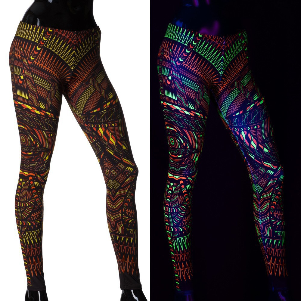 "\""I C Call\"" UV leggings, Multicolor"