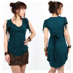 """I See \""""Chainat\"""" top, Teal"""
