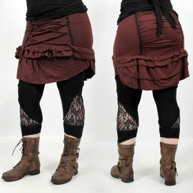 "I See \""Sirasha\"" skirt, Brown"