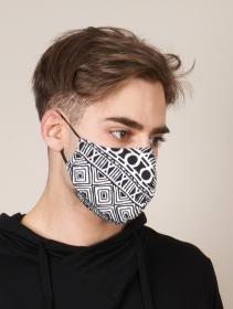 I See Secrets Face Mask, Black and white