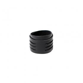"\""Ikan\"" leather bracelet, Black"