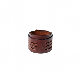 "\""Ikan\"" leather bracelet, Brown"