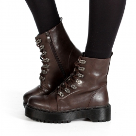 """Inaaya\"" boots, Dark brown"