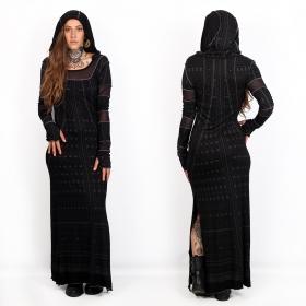 "\""Inanna Kalinga\"" long dress, Black"