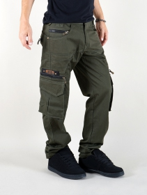 "Indian project pants ""wake\"", Dark khaki green"