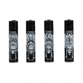 Indian Skull Clipper lighter