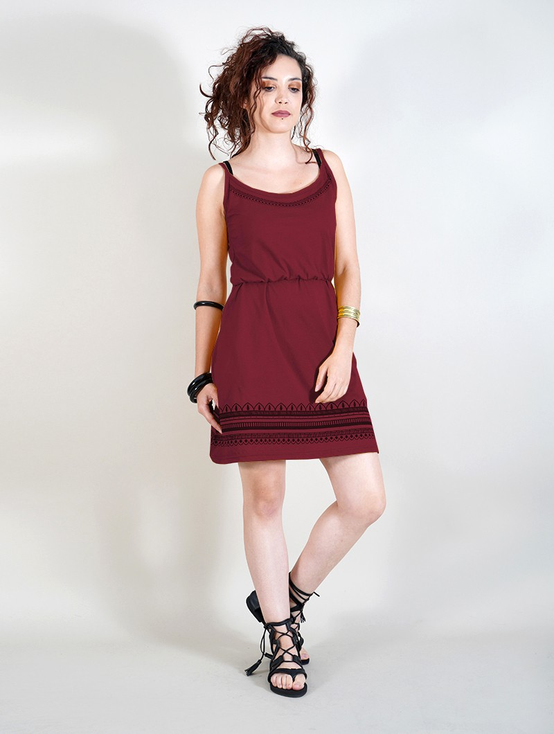 "\""Indie Oromë\"" dress, Wine"