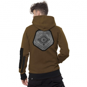 "\\\""Infinity\\\"" Zipped Jacket, Mocha mel"