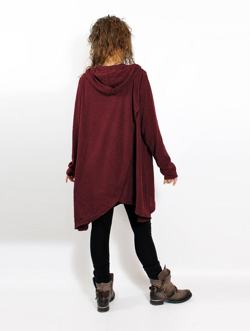 "\""Inika\"" poncho pullover, Dark teal"