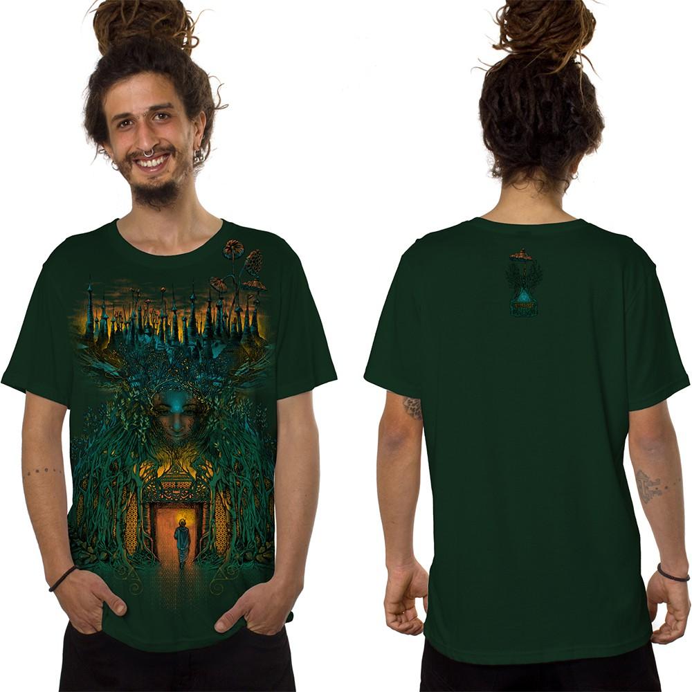 "\""Inner Forest\"" t-shirt, Forest green"